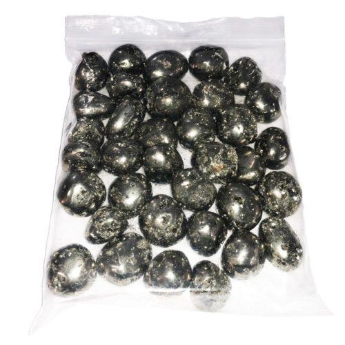 bolsa piedras rodadas pirita del peru 1kg
