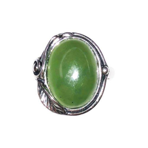 anillo jade plata rodiada