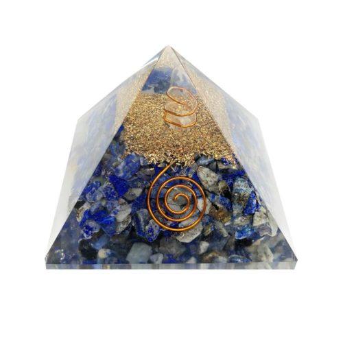 pirámide orgonita lapislázuli 60 70mm