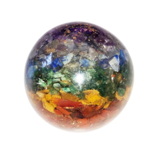 esfera orgonita 7 chakras 55mm