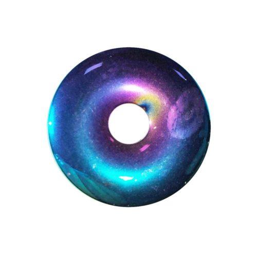 pi chino donut hematita arco iris 30mm