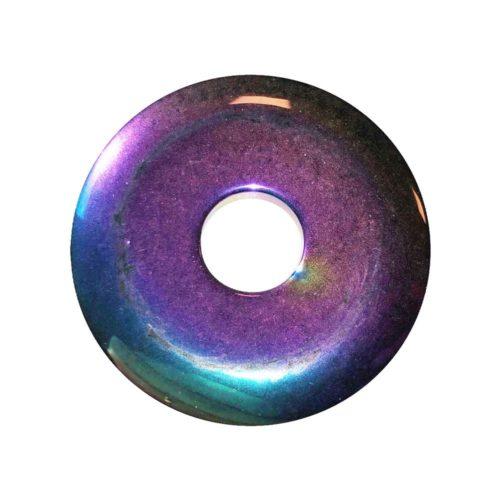 pi chino donut hematita arco iris 40mm