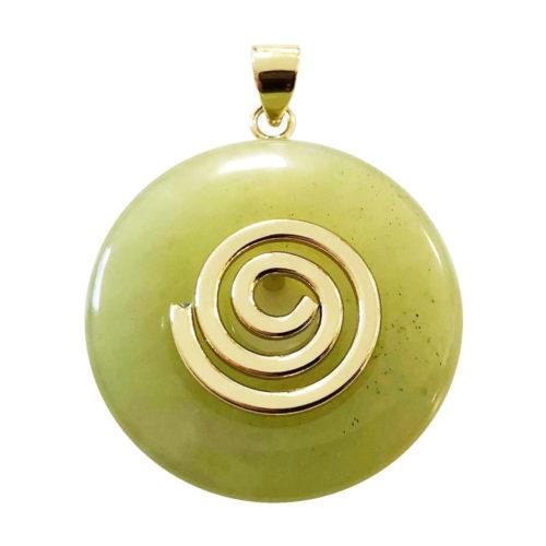 colgante jade verde pi chino