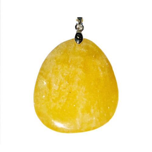 colgante calcita naranja piedra plana