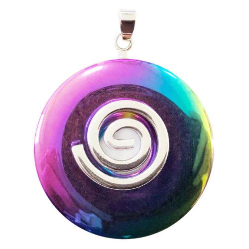 colgante hematita arco iris pi chino