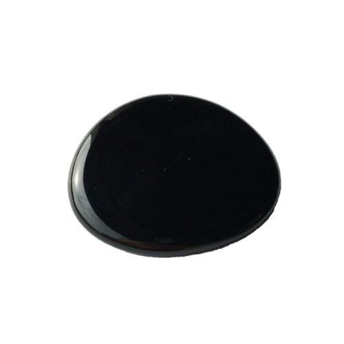 Piedra plana ágata negra