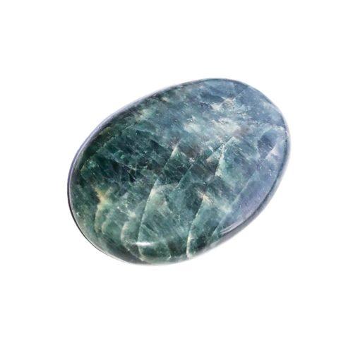Piedra plana Apatita verde