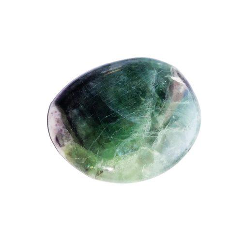 Piedra plana Fluorita multicolor
