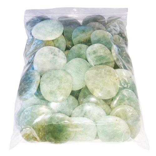 bolsa piedras planas aguamarina