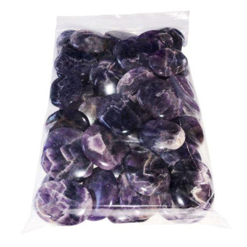 bolsa piedras planas amatista