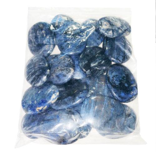 bolsa piedras planas dumortierita