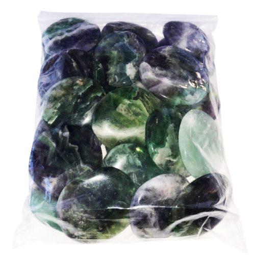 bolsa piedras planas fluorita multicolor