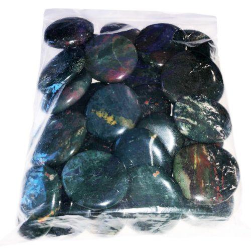 bolsa piedras planas jaspe heliotropo