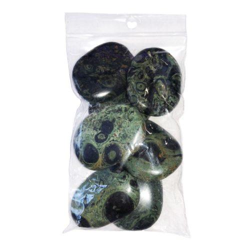 bolsa piedras planas jaspe kambamba