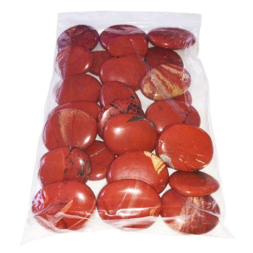 bolsa piedras planas jaspe rojo