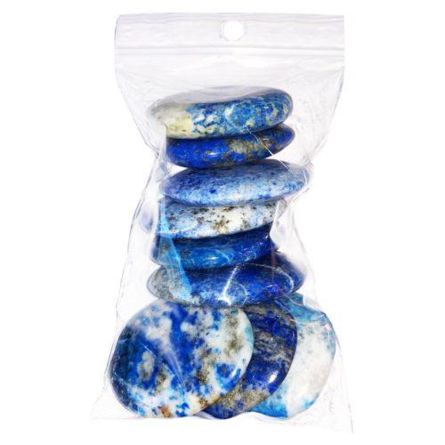 bolsa piedras planas lapislázuli