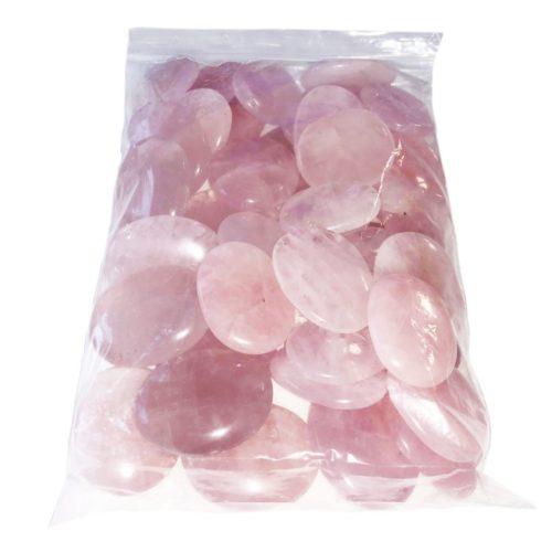 bolsa piedras planas cuarzo rosa