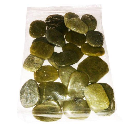 bolsa piedras planas serpentina