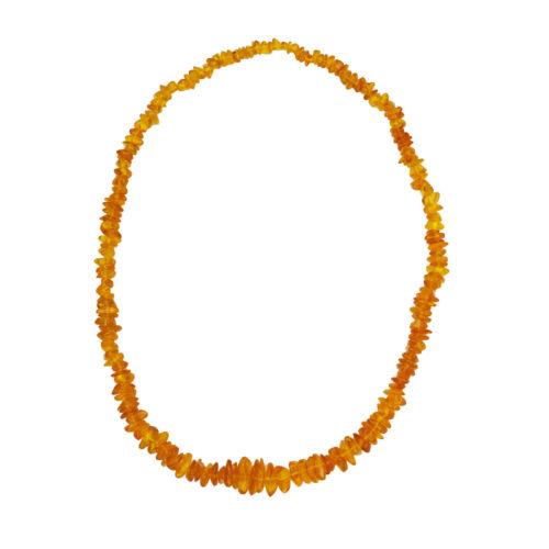 collar ámbar amarillo barroco 60cm