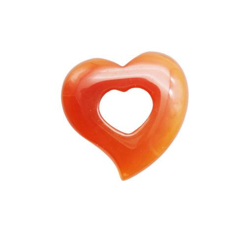 colgante pi chino o donut cornalina corazón